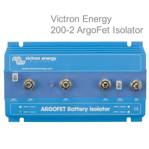 Victron Energy 200-2 Argo-FET Battery Isolator|2 Batteries-200A|M8 Bolt|Use Marine & Boats Thumbnail 1