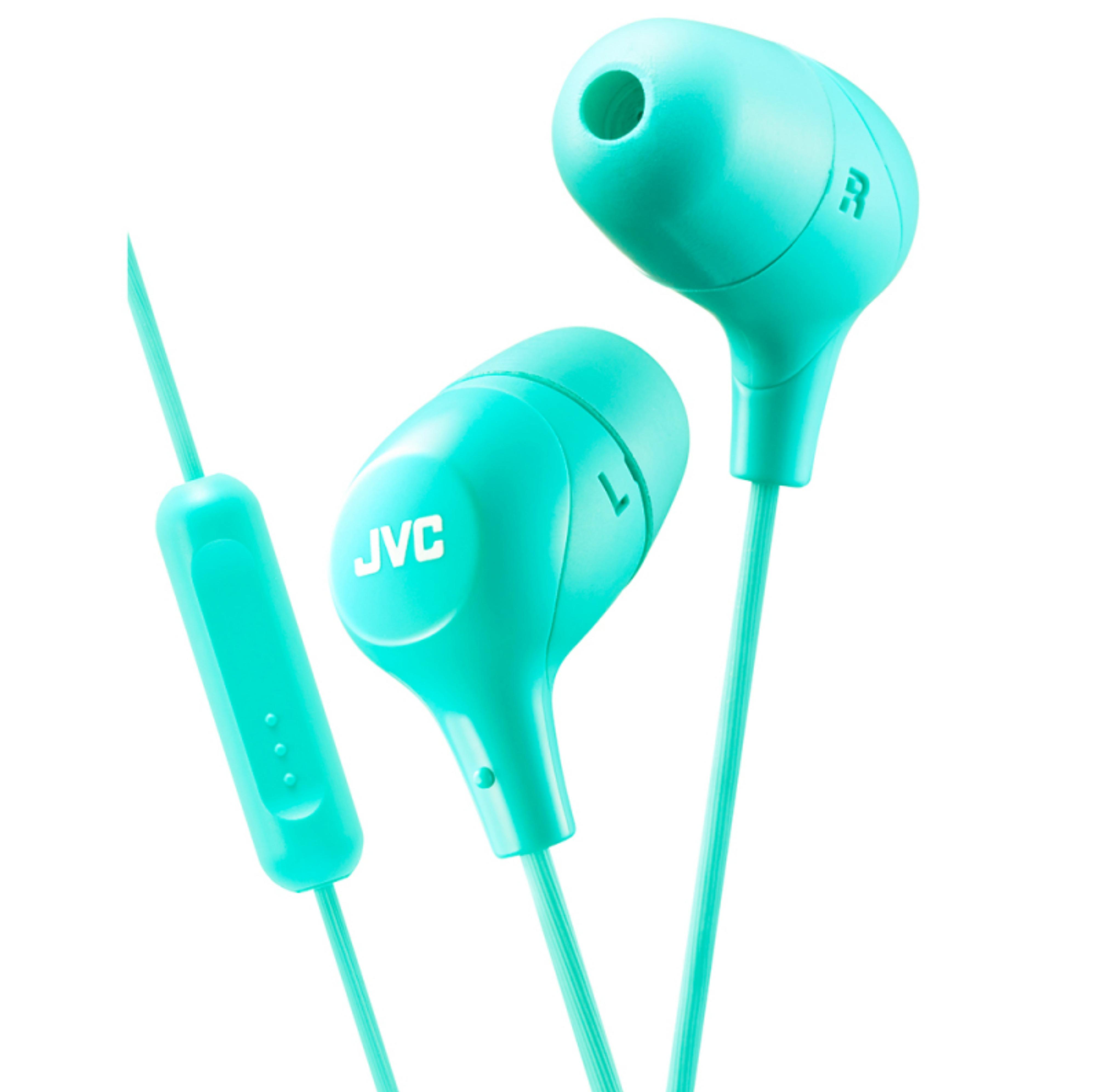 JVC HAFX38MG New Marshmallow Headphones|Custom Fit?In Ear|Remote & Mic|Green?