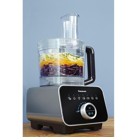 Panasonic MKF800SXC|Stylish Glass Touch Food Processor|Blender|2.5L|Aluminium|Black| Thumbnail 4