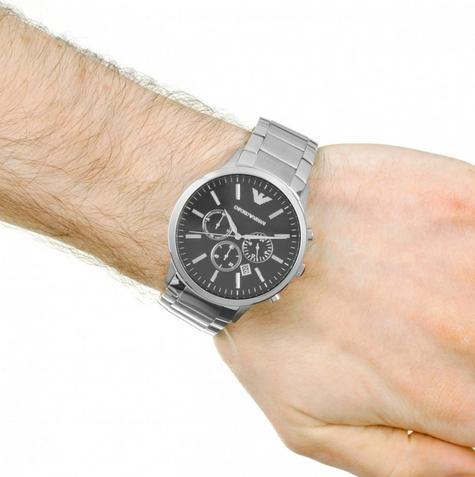 Emporio Armani Gianni Gent's Watch | Chronograph Black Dial | Stainless Strap?AR0389 Thumbnail 3