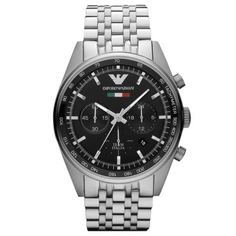 Emporio Armani Men's Sportivo Watch AR5983?Chronograph Black Dial?Stainless Band Thumbnail 1