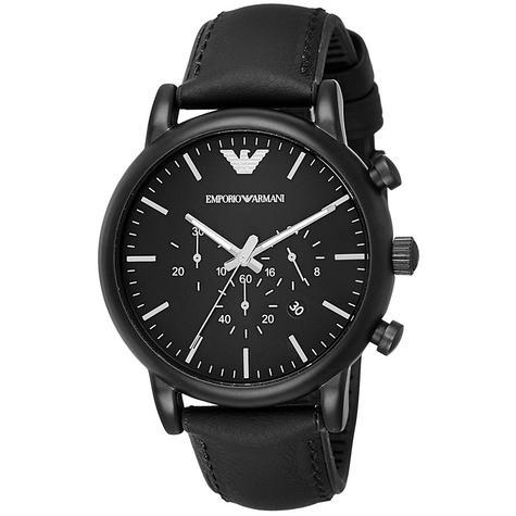 Emporio Armani Luigi Chronograph Black Dial Strap Men's Formal Watch - AR1970 Thumbnail 2