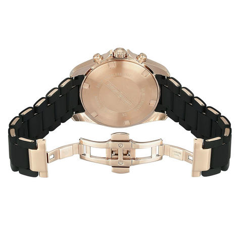 Emporio Armani Sportivo Men's Watch|Chronograph Black Dial|Rubber Strap|AR6066 Thumbnail 3