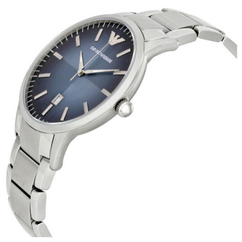 Emporio Armani Classic Men's Watch|Blue Analog Metal Dial|Silver Bracelet|AR247 Thumbnail 2