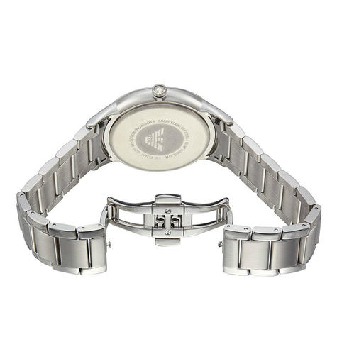 Emporio Armani Classic Men's Watch|Blue Analog Metal Dial|Silver Bracelet|AR247 Thumbnail 3