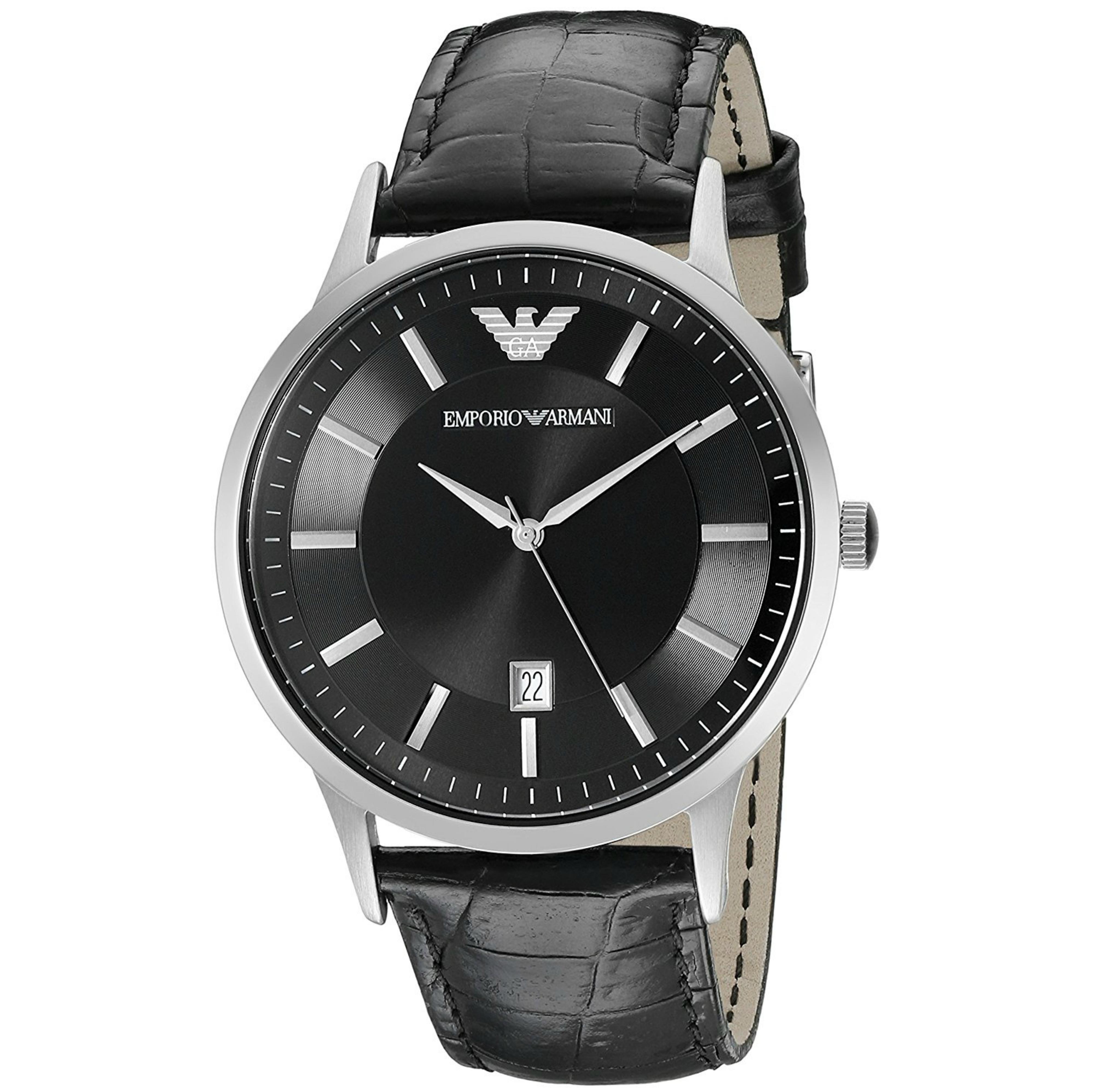Emporio Armani Renato Men's Scratch Resistant Analog Black Dial Watch WR- AR2411