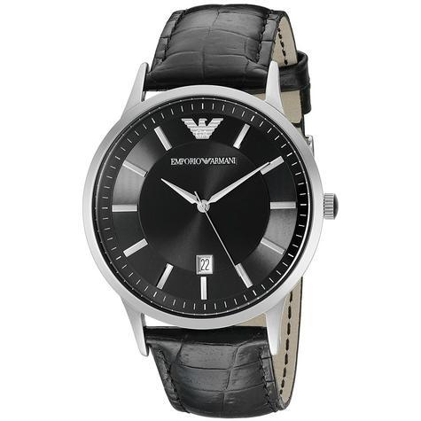 Emporio Armani Renato Men's Scratch Resistant Analog Black Dial Watch WR- AR2411 Thumbnail 1