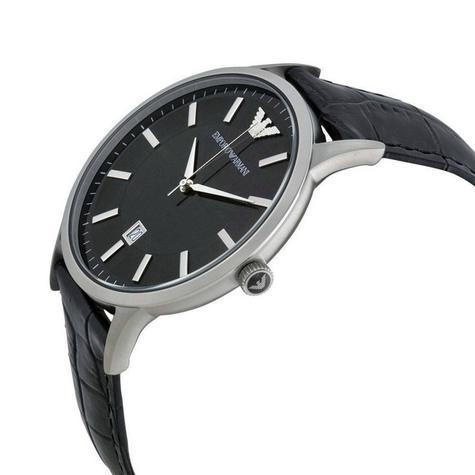 Emporio Armani Renato Men's Scratch Resistant Analog Black Dial Watch WR- AR2411 Thumbnail 2