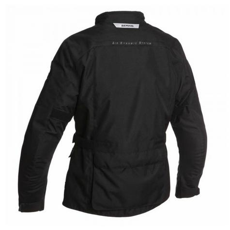 New Bering Exodus MotorBike/Cycle Jacket|Textile|Waterproof|Regular Fit|CE Approved|Black Thumbnail 3
