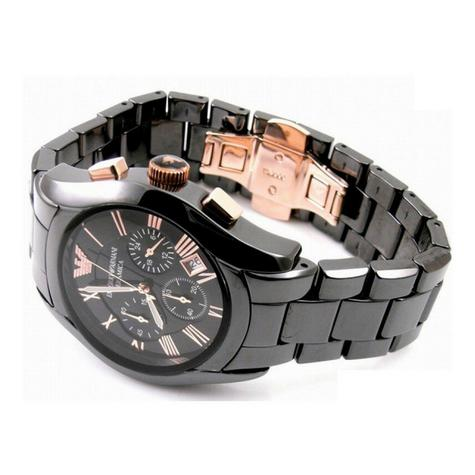 Emporio Armani Men's Watch|Black Chronograph Dial|Ceramic Bracelet Strap|AR1410 Thumbnail 4