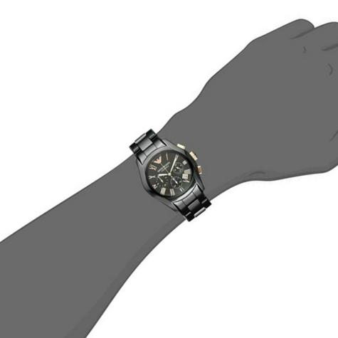 Emporio Armani Men's Watch|Black Chronograph Dial|Ceramic Bracelet Strap|AR1410 Thumbnail 7