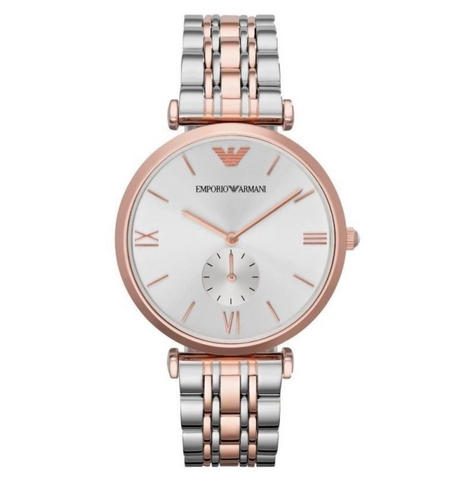Emporio Armani Men's Watch|Silver Dial|Stainless Steel Rose Gold Bracelet|AR1677 Thumbnail 1