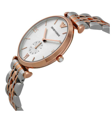 Emporio Armani Men's Watch|Silver Dial|Stainless Steel Rose Gold Bracelet|AR1677 Thumbnail 2