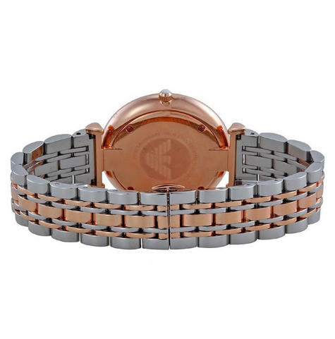 Emporio Armani Men's Watch|Silver Dial|Stainless Steel Rose Gold Bracelet|AR1677 Thumbnail 4
