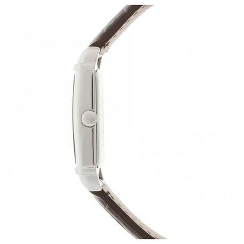 Emporio Armani Women's Analog Watch Rectangle Dial Brown Leather Strap AR0491 Thumbnail 2