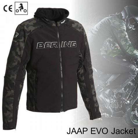 New Bering Jaap Evo Motorcycle/Bike Men Textile Jacket|Waterproof|CE Approved|Black/Camo Thumbnail 1