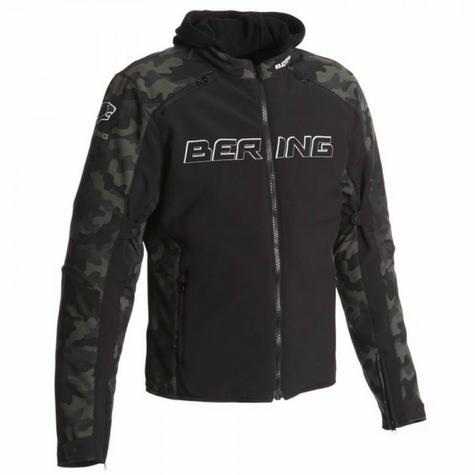 New Bering Jaap Evo Motorcycle/Bike Men Textile Jacket|Waterproof|CE Approved|Black/Camo Thumbnail 2