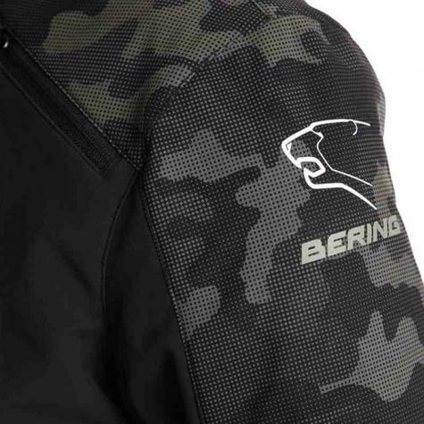 New Bering Jaap Evo Motorcycle/Bike Men Textile Jacket|Waterproof|CE Approved|Black/Camo Thumbnail 4