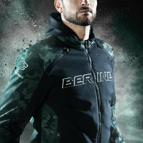 New Bering Jaap Evo Motorcycle/Bike Men Textile Jacket|Waterproof|CE Approved|Black/Camo Thumbnail 7