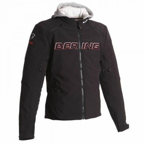 New Bering Jaap Evo Motorcycle/Bike Men Textile Jacket|Waterproof|CE Approved|Black/Red Thumbnail 2