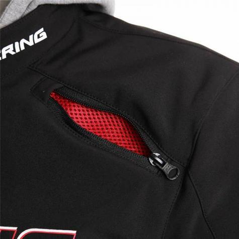 New Bering Jaap Evo Motorcycle/Bike Men Textile Jacket|Waterproof|CE Approved|Black/Red Thumbnail 5