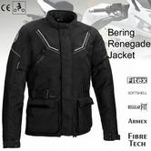 Bering Renegade Motorcycle/Bike Textile Jacket-BLack/Grey|CE Approved|Waterproof