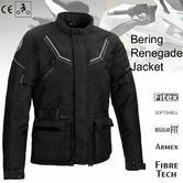 Bering Renegade Motorcycle/Bike Textile Jacket-BLack/Grey|CE Approved|Waterproof
