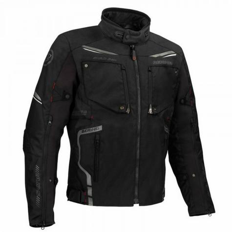 New Bering Zodd Motorcycle/Bike Men Textile Jacket|Waterproof|CE Approved|Dual-Use|Black Thumbnail 2