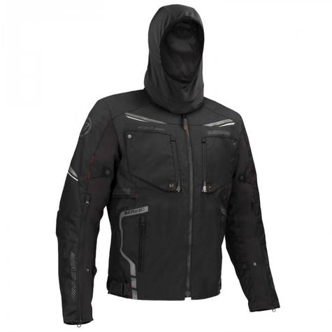 New Bering Zodd Motorcycle/Bike Men Textile Jacket|Waterproof|CE Approved|Dual-Use|Black Thumbnail 4