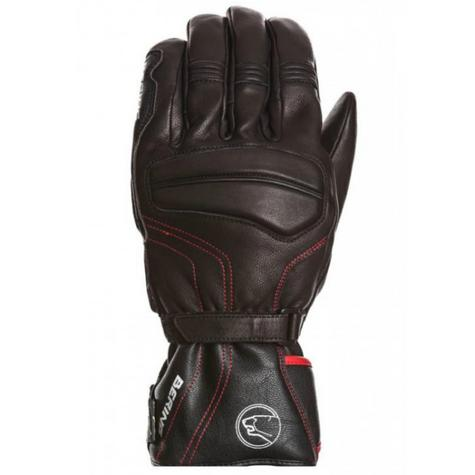 Bering Atlantis Motorcycle/Bike Winter Leather Gloves - Black|Waterproof|CE|For Men Thumbnail 2