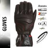 Bering Atlantis Motorcycle/Bike Winter Leather Gloves - Black|Waterproof|CE|For Men
