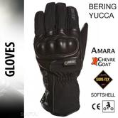 Bering Yucca Goretex Motorcycle/Bike Winter Leather Gloves-Black|Watreproof|CE|For Men