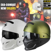Scorpion Exo Combat Open Face Motorcycle Unisex Helmet|Crossover + Jet|Multi Color