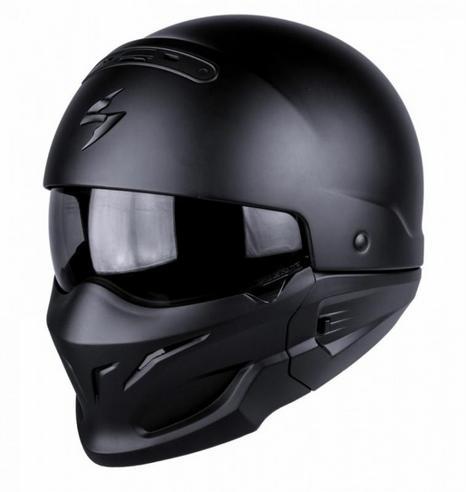 Scorpion Exo Combat Open Face Motorcycle Unisex Helmet|Crossover|Jet Style|Matt Black Thumbnail 2