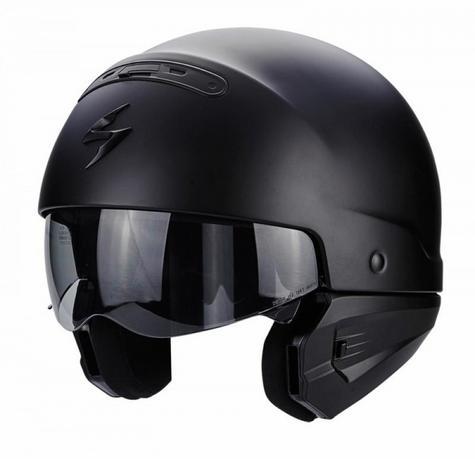 Scorpion Exo Combat Open Face Motorcycle Unisex Helmet|Crossover|Jet Style|Matt Black Thumbnail 3