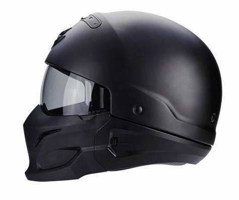 Scorpion Exo Combat Open Face Motorcycle Unisex Helmet|Crossover|Jet Style|Matt Black Thumbnail 5