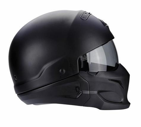 Scorpion Exo Combat Open Face Motorcycle Unisex Helmet|Crossover|Jet Style|Matt Black Thumbnail 6