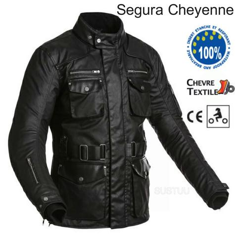 Segura Cheyenne Textile Men Jacket|Waterproof|Breathable|Mesh|CE Approved|Black Thumbnail 1
