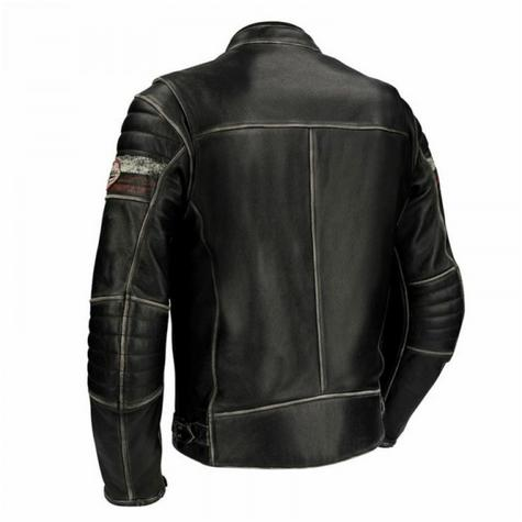 New Segura Cruze Motorcycle Men Leather Jacket|Summer|Vintage Style|CE Approved|Black Thumbnail 3