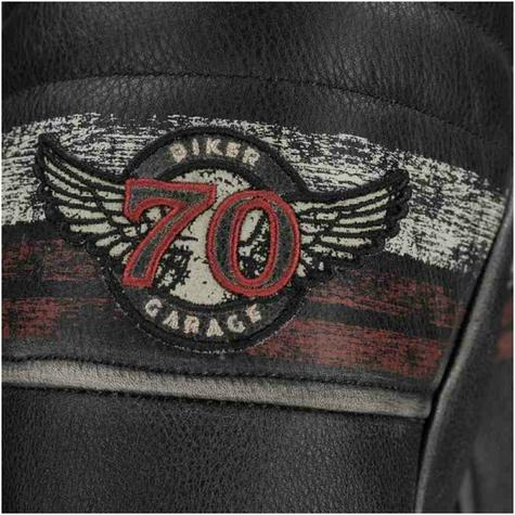 New Segura Cruze Motorcycle Men Leather Jacket|Summer|Vintage Style|CE Approved|Black Thumbnail 4