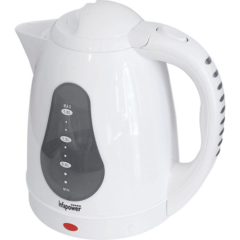 Infapower 360 Degree Cordless Kettle|Water Level Indicator|1.8L|2200w|White|X502