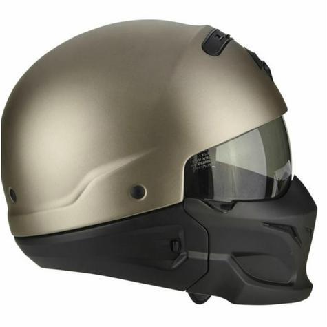 Scorpion Exo Combat Open Face Unisex Sport Helmet|Crossover+Jet Style|Titanium Thumbnail 6