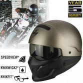 Scorpion Exo Combat Open Face Unisex Sport Helmet|Crossover+Jet Style|Titanium