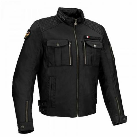 New Segura Jericho Motorcycle/Bike Men Textile Jacket|CE Approved|Waterproof & Breathable|Black Thumbnail 2