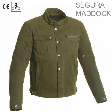 Segura Maddock Motorcycle/Bike Men Textile Jacket|CE Approved|Waterproof & Breathable|kaki|EU48/UK38/S Thumbnail 1