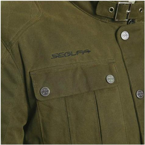 Segura Maddock Motorcycle/Bike Men Textile Jacket|CE Approved|Waterproof & Breathable|kaki|EU48/UK38/S Thumbnail 4