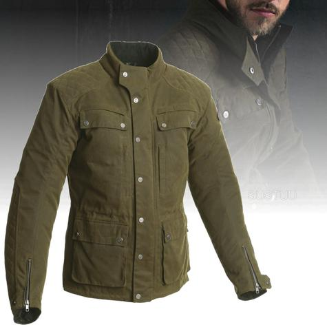 Segura Memphis Motorcycle/Bike Men Textile Jacket|CE Approved & Breathable|Waterproof|Kaki Thumbnail 2