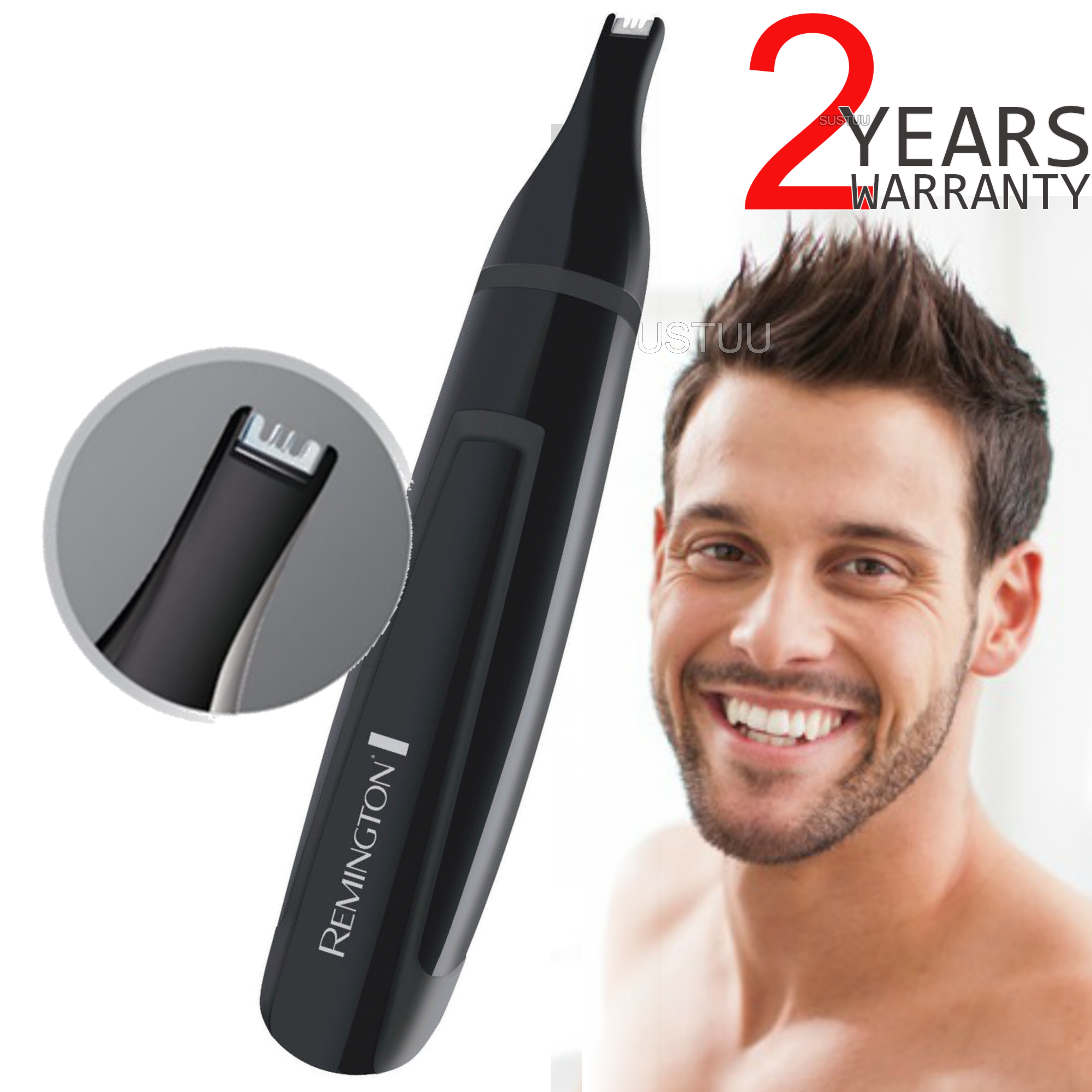Remington NE3150 Nose-Nasal-Ear-Eyebrow-Hair Clipper Trimmer | For Men | Washable