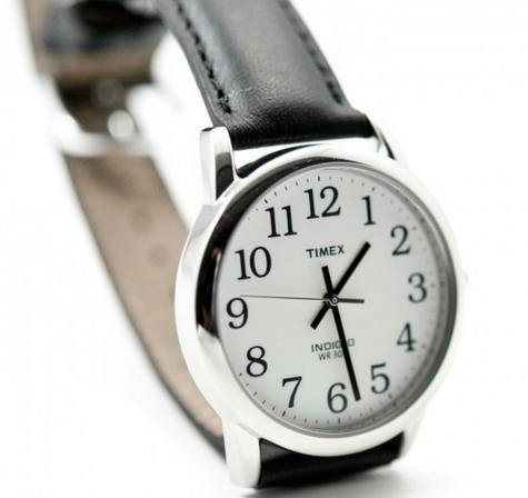 Timex Mens T20501 Easy Reader Watch?Analogue Display?Black Leather Strap?White? Thumbnail 2