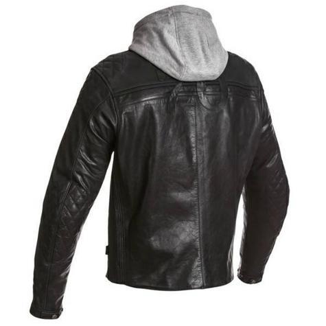 Segura Mens Style Motorcycle/Bike Hoodie Jacket|Cowhide Leather|CE Approved|Black Thumbnail 3